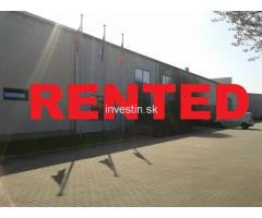 Industrial hall of 11,140 m2 for rent or sale in Slovakia
