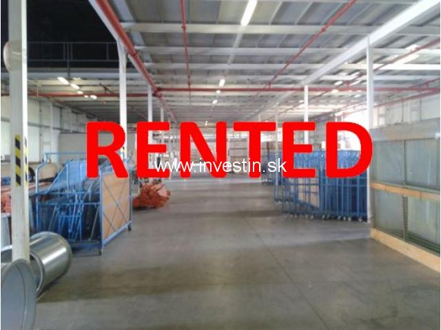 Warehouse of 3.540 m2 for rent in Slovakia