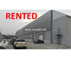 Industrial hall for rent with option to buy
